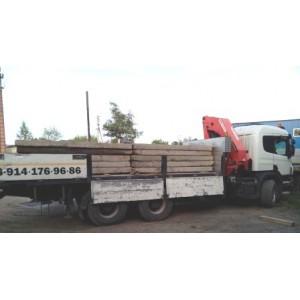 Грузоперевозки бортовым грузовиком с манипулятором в Хабаровске. 8 914 176 96 86. кран-борт.
