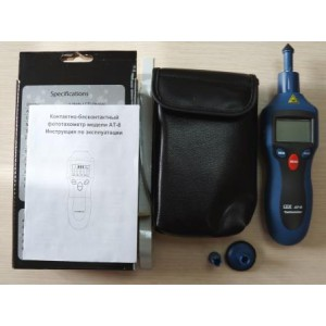 АТ-8 Цифровой лазерный фототахометр, контактно-бесконтактный